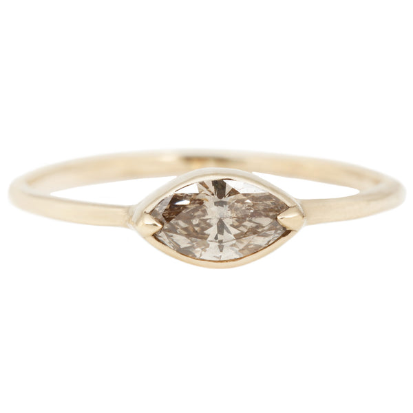 Champagne Diamond Marquise Ring