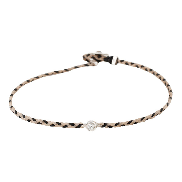 Black & Tan Diamond Friendship Bracelet