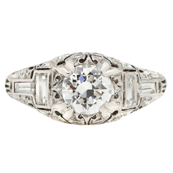 Platinum & White Diamond Ring