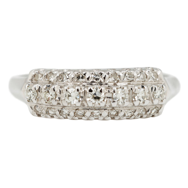 Three Row Diamond Ring