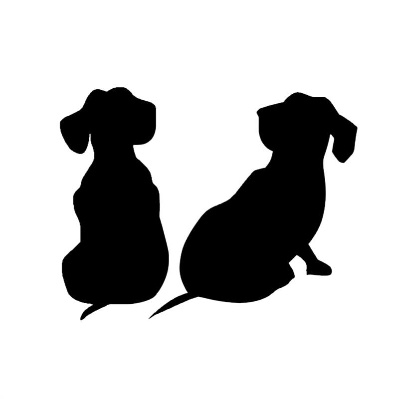2pcs Cute Black Dog Decals Car Sticker car sticker PetsWheel