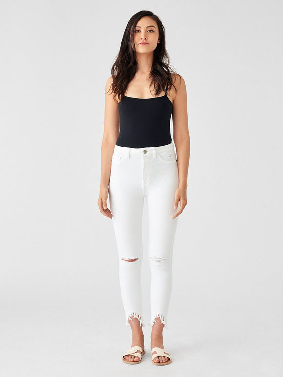 DL1961 Farrow Ankle High Rise Skinny White