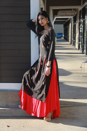 Party Wear Layered Dress