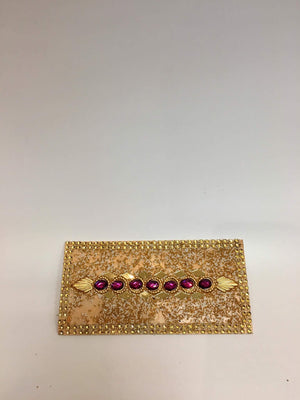 Lac Beaded Diary Designer Mirror Work Envelope