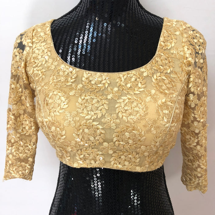 Custom Made Embroidered Golden Blouse