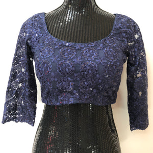 Custom made Blue Embroidered Blouse