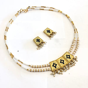 Meenakari Reversible Necklace Set