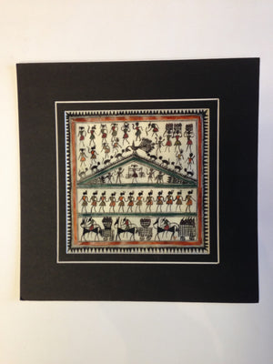 Frameable Warli Art Painting On Silk - 2