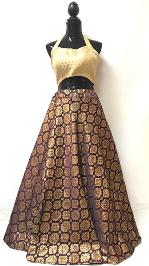 BANARASI SKIRT - PURPLE