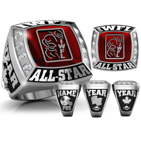 All Star IWFL Ring with Glass Enamel