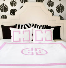 Load image into Gallery viewer, Powder Pink Deco Duvet Cover
