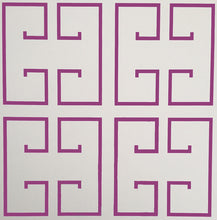 Load image into Gallery viewer, Magenta Greek Key Wallpaper