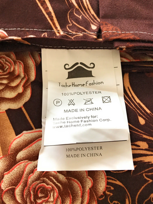 Tache Melted Gold Brown Floral Fitted Sheet (2815FIT) - Tache Home Fashion