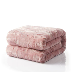 Tache Faux Fur Dusty Rose Pink Throw Blanket (#7) - Tache Home Fashion