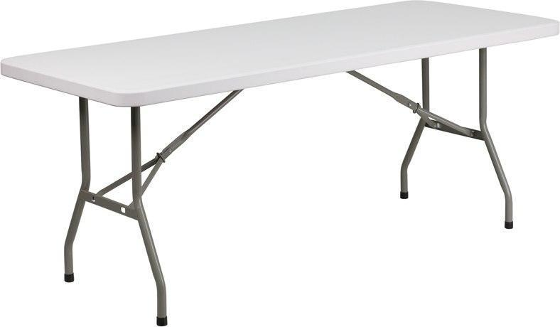 Flash Furniture DAD-YCZ-183B-GW-GG 30''W x 72''L Granite White Plastic Folding Table