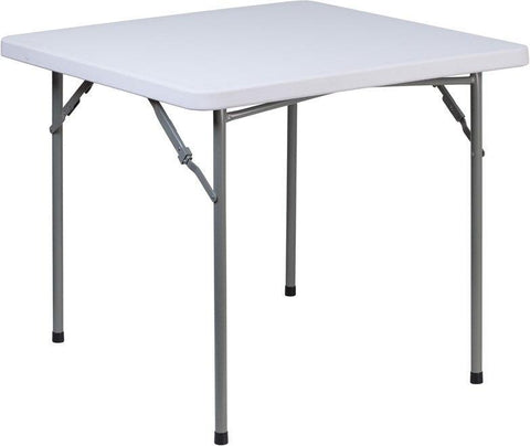 Flash Furniture RB-3434-GG 34'' Square Granite White Plastic Folding Table
