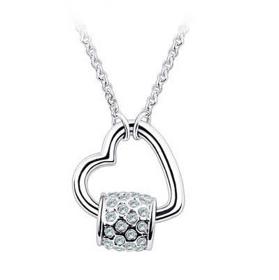 Platinum Plated Carly Pendant Necklace