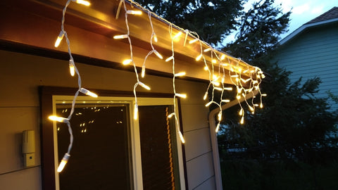 Outdoor / Indoor LED Icicle Lights - Warm White