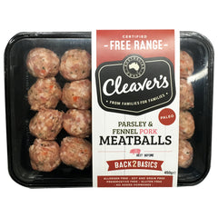 Pork - Meatballs - Parsley & Fennel (450g) Cleavers