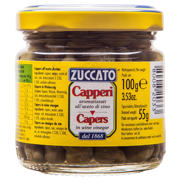 Zuccato Capers In Vinegar 106g , Grocery-Condiments - HFM, Harris Farm Markets  - 1