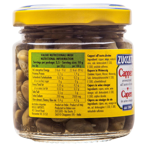 Zuccato Capers In Vinegar 106g , Grocery-Condiments - HFM, Harris Farm Markets  - 3