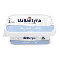 Butter Spreadable Lighter Traditional 250g Ballantyne , Frdg2-Dairy - HFM, Harris Farm Markets
