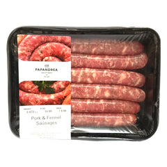 Sausages Pork & Fennel Joe Papandrea 400-650g , Frdg5-Meat - HFM, Harris Farm Markets