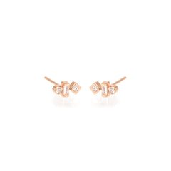 14k small mixed shape diamond studs