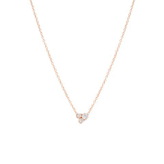 14k Large 3 Mixed Diamond Prong Set Necklace