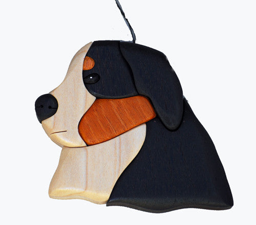"""Bernese 3-D Wood Art Ornament"""