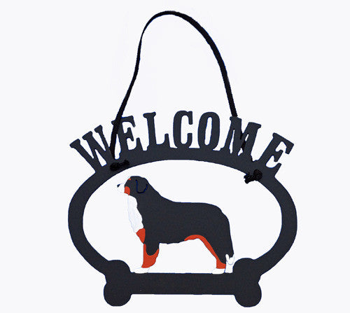 Bernese Oval Welcome Sign