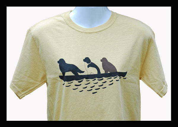 3 Newfs in Canoe T-Shirt - Maize