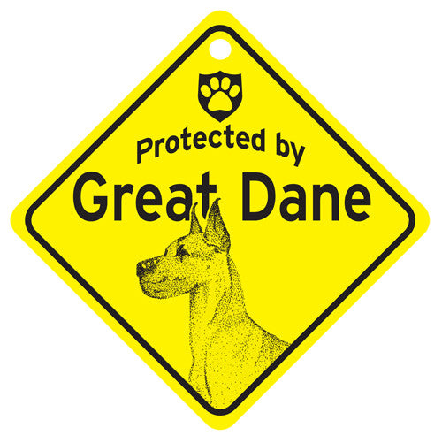 Protected By Great Dane Sign - cropped