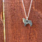 """Sterling Silver Great Pyrenees Pendant and 18"" Chain"""