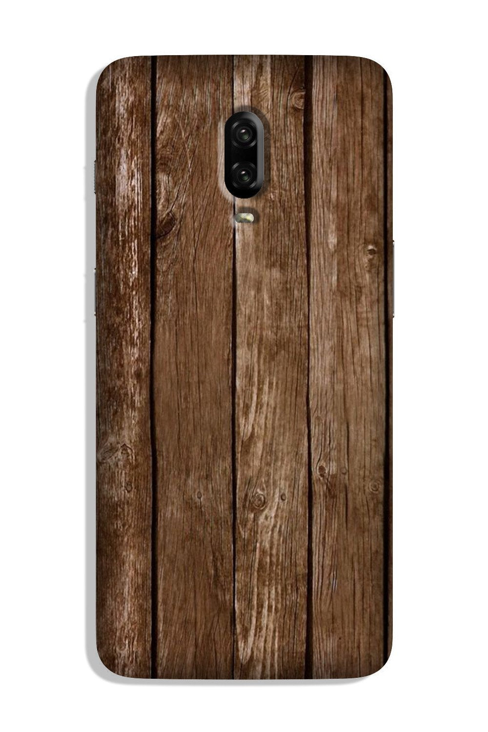 Wooden Look Case for OnePlus 6T  (Design - 112)