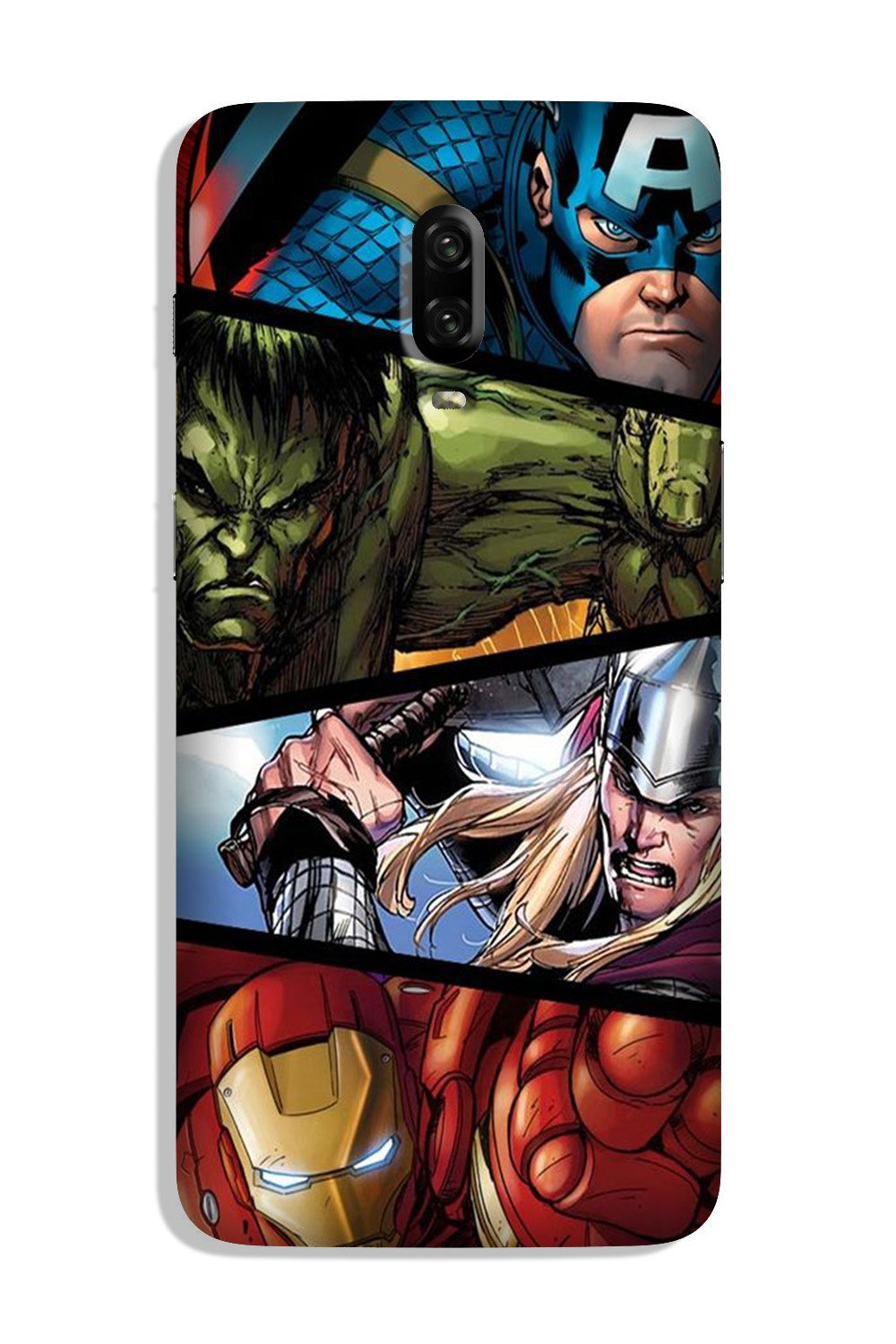 Avengers Superhero Case for OnePlus 6T  (Design - 124)