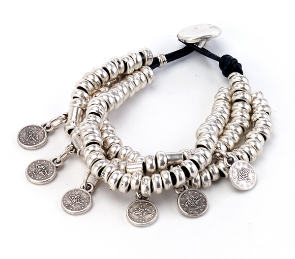 Coin Charms Bracelet