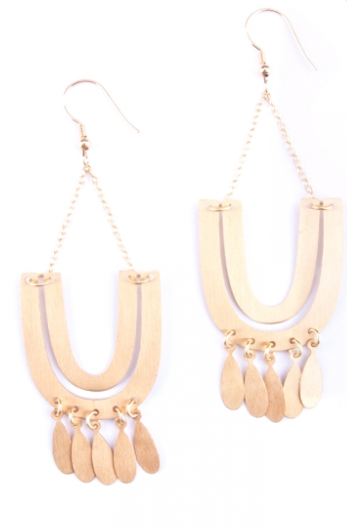 Mantra Statement Earrings gold