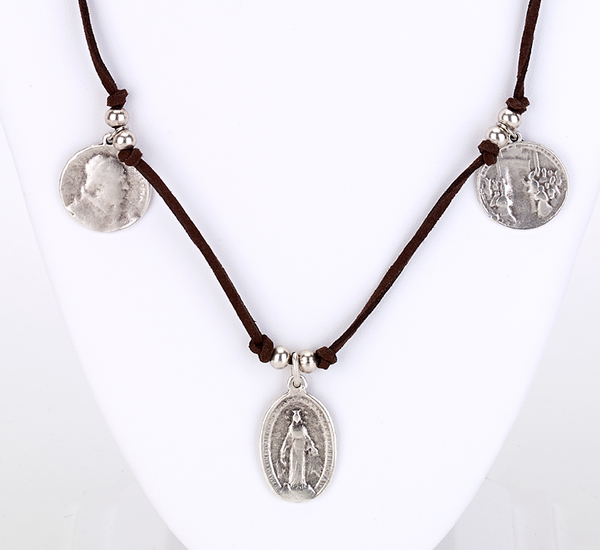 Vintage Religious Charm Necklace