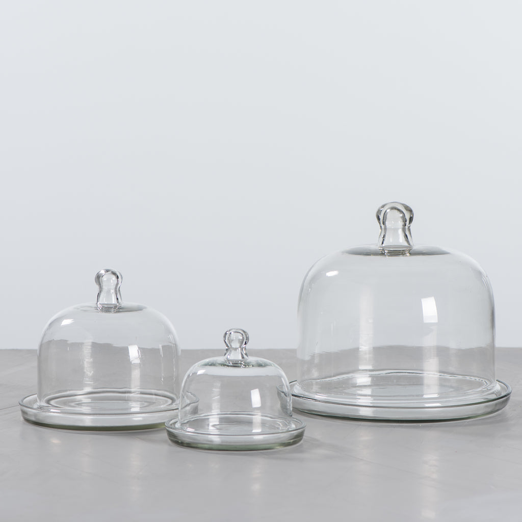 glass pastry domes
