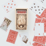 playing cards with outdoors illustrations