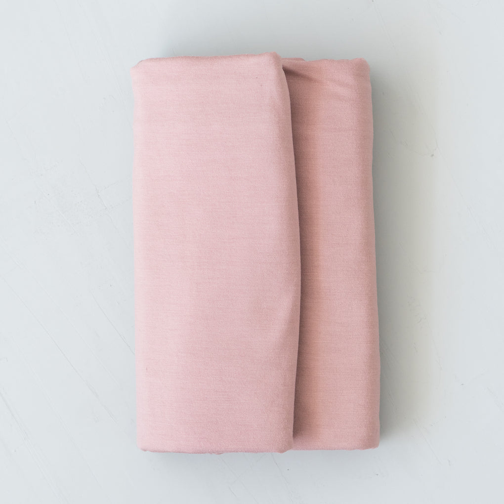 stretchy pink baby swaddle