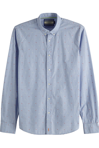 Scotch & Soda Fly Away L/S in Sky Blue