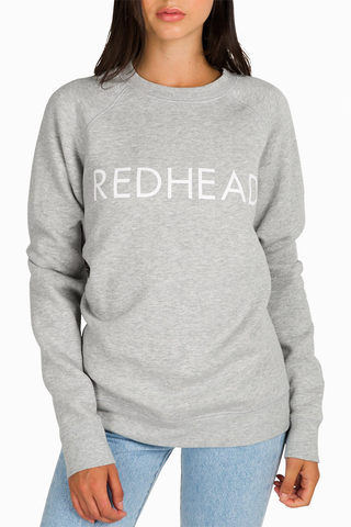 Brunette The Label Redheads Rule! Sweater in Ash