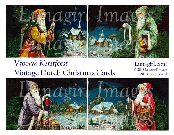 VROOLYK KERSTFEEST: Vintage Dutch Christmas Cards