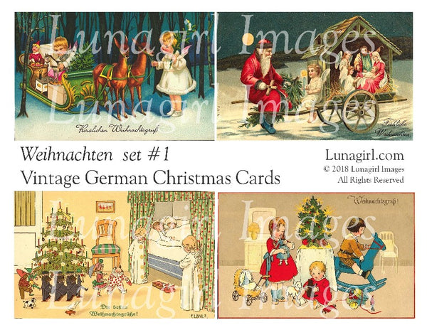 WEIHNACHTEN Set #1: Vintage German Christmas Cards