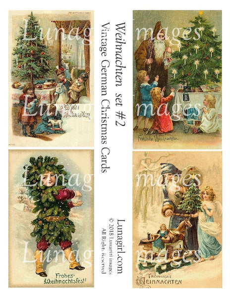 WEIHNACHTEN Set #2: Vintage German Christmas Cards