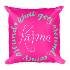 """Karma"" Square Cushion/Pillow - Homeware - KryptikRose®"