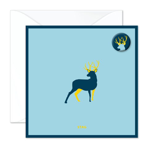 Stag badge card