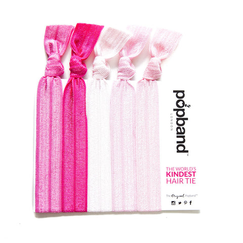 Bubble Gum | Solid Colour Popband Hair Bands | Hair Ties in Various Shades of Pink